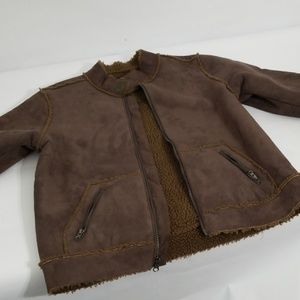 Boys faux suede and faux lining coat